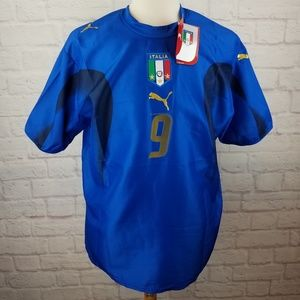Luca Toni #9 Italy Soccer Team Jersey By Puma